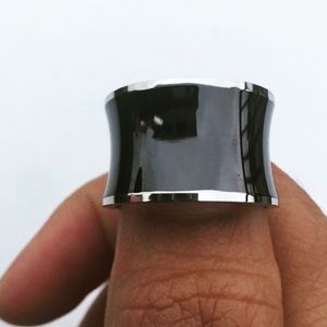 Evolving Always Accessories - Stainless Steel Black Resin Band